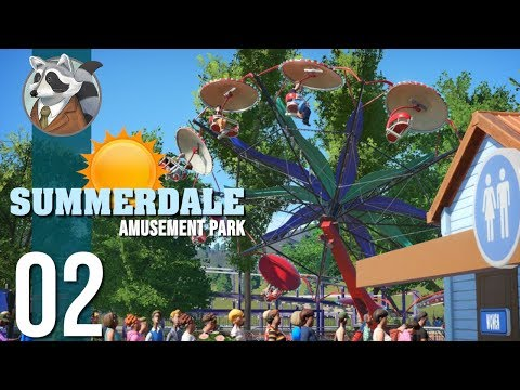 ☀Stations & Restrooms | Summerdale Amusement Park | Planet Coaster Ep.2☀