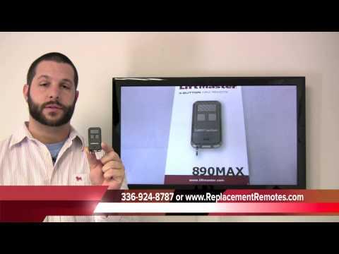 Liftmaster 890MAX 3 Button Mini Remote Control Garage Door Opener