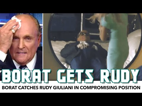 Borat Catches Rudy Giuliani In Very Compromising Position