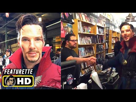Benedict Cumberbatch Visits Comic Book Store in DOCTOR STRANGE Costume [HD]