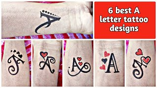 How To Make Different Types Of A Letter Tattoo Designs
