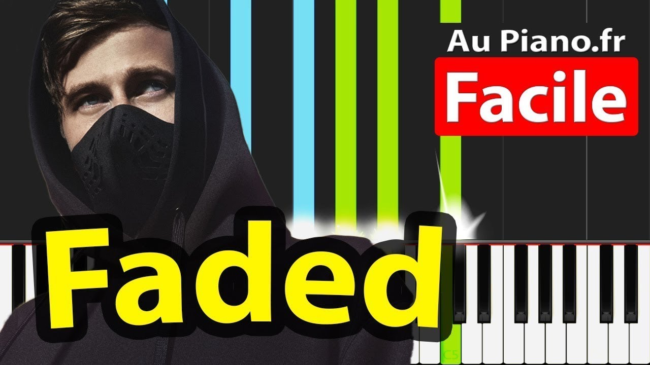Faded - Alan Walker - Piano Tutorial Facile How to play