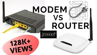 MODEM vs ROUTER !! What's the difference between them !!