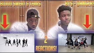 REACTING TO TWO BTS DANCE PRACTICES IN ONE VIDEO!