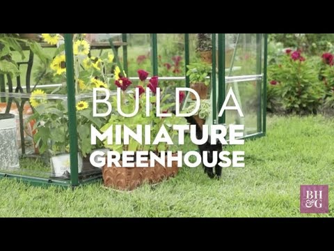 Build a Miniature Greenhouse | Made By Me Garden | Better Homes & Gardens
