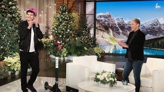 Ashton Kutcher Forces His Son to Walk by Ellen and Portia