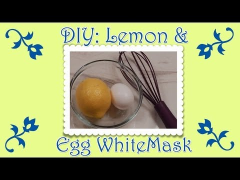 Facial mask na may egg lemon