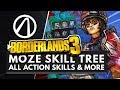 BORDERLANDS 3 | All MOZE Action Skills, Perks & Abilities Gameplay + Full Skill Tree Breakdown