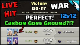 *LIVE - Perfect War* Th12 DragBat & Miners! Carbon Goes Ground!! | Clash of Clans