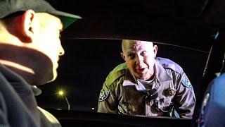 CALIFORNIA STATE POLICE CONFRONTS LAMBORGHINI OWNER!
