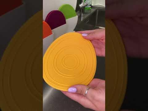 Прихватки силиконовые универсальные Sallema Egg Trivet, лимонные