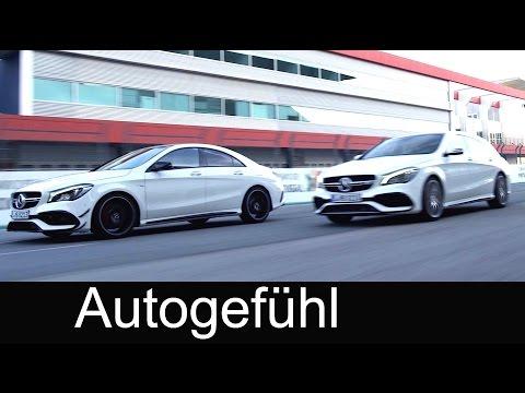 Mercedes-AMG CLA 45 4MATIC Coupé/Sedan vs Shooting Brake Facelift Sound Racetrack Exterior/Interior