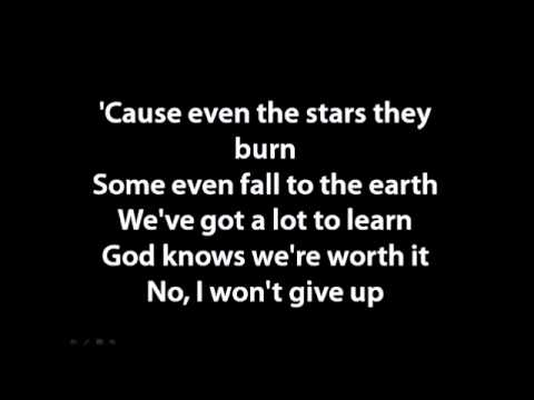 Jason Mraz - I won't give up lyrics