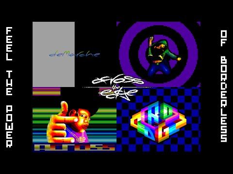 ACROSS THE EDGE by deMarche - ZX Spectrum full-resolution demo - CC`2016 (noflic 50Hz)