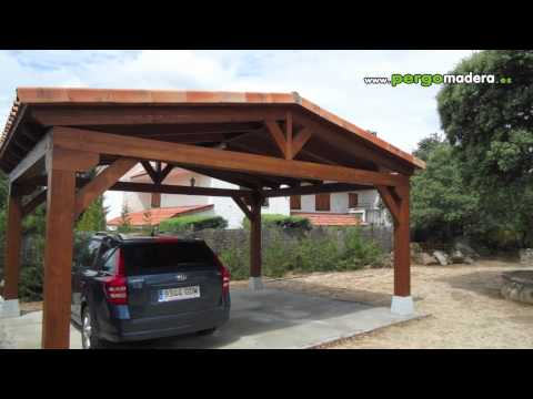 Garajes de madera pergomadera 2011 - Porche diseno ...