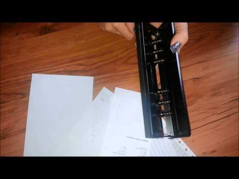 Filofax sechsfach Bind System Locher