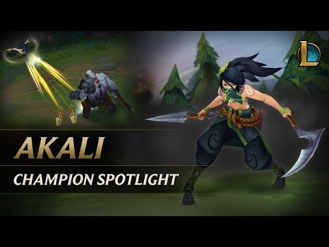 Akali Champion Spotlight Gameplay