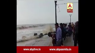 High Tide Situation on beach of  tithal