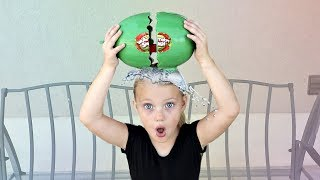 Watermelon Smash Toy Challenge!
