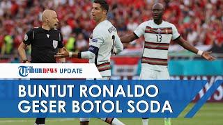 Aksi Cristiano Ronaldo Geser Botol Minuman Bersoda saat Jumpa Pers Buat Saham Perusahaan Anjlok