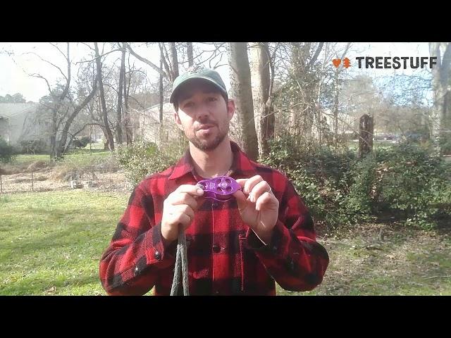 Видео Блок DMM Pinto RIG Pulley фиолетовый