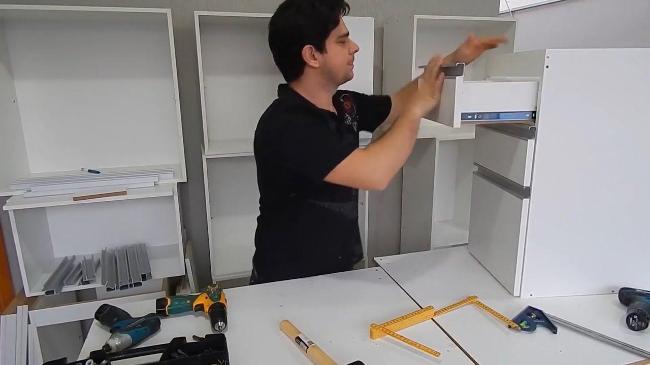 Como colocar frente em gavetas de moveis planejados