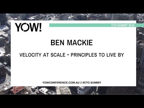 Velocity at scale video