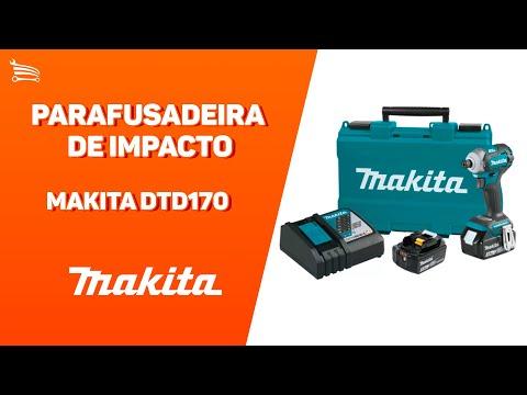Parafusadeira de Impacto a Bateria 18V Li-Ion 175Nm com Carregador 2 Bat. e Maleta - Video