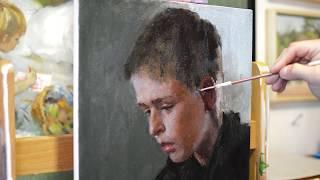 Портрет маслом для начинающих художников.