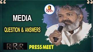 Media Question & Answers For RRR Team   SS Rajamouli   Jr NTR   Ram Charan Tej   Vanitha TV