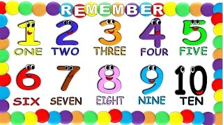 Numbers in English 1 to 10 for Children NEW!, Numeros en Ingles 1 al 10 para Niños NUEVO!