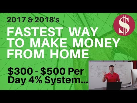 How to make money online from home 2017 with 4% group $300-$500 a day