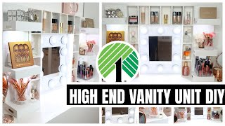 BEST $1 HIGH END DOLLAR TREE VANITY DIY│you'll be shocked this was made with Dollar Store items