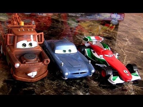Cars 2 Pullback N Release Mater Races Backward, FINN McMISSILE Francesco Disney Pixar Awesome Toys