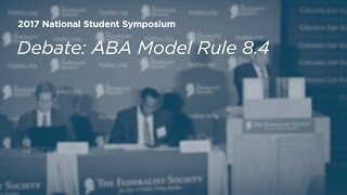 Click to play: ABA Model Rule 8.4 - Event Audio/Video