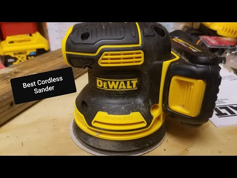 DeWalt 20v XR Brushless 5″ Orbital Sander Review ..Live!!