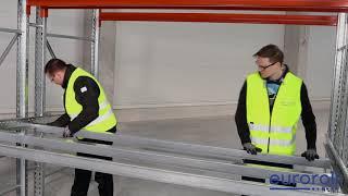 Euroroll Carton Flow Installation Straight Bed