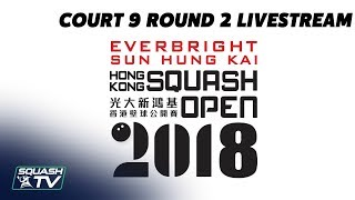 Court 9 LiveStream - Hong Kong Open 2018 Rd 2 - Day 2 - Afternoon Session