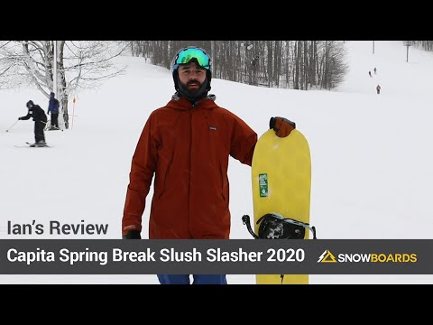 Video: Capita Spring Break Slush Slasher Snowboard 2020 7 30