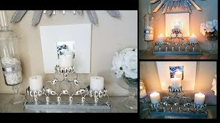Diy Home Decor Candelabra Center Piece Quick And Easy Using Regular Items.