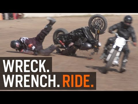 Wreck. Wrench. Ride. Harley Flat Track Racing at RevZilla.com