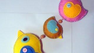 Make A Cute Hanging Felt Bird Decoration - DIY Home - Guidecentral