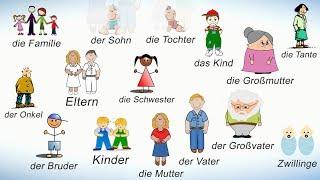 Слова на немецком на тему СЕМЬЯ. Члены семьи на немецком