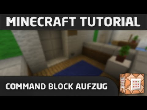 Command Block AufzugElevator Minecraft Project - Minecraft haus bauen mit command block
