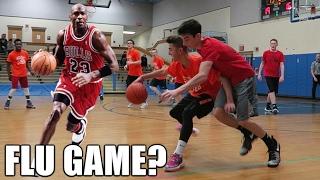 MICHAEL JORDAN FLU GAME!? 5 ON 5 REC BASKETBALL GAME #4
