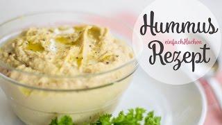 Hummus Rezept als Dip oder Brotaufstrich - einfachKochen vegan