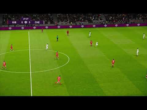 [HD] Gibraltar vs Switzerland | Match Qualification EURO 2020 | 18 Novembre 2019 | PES 2020