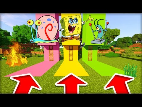 NEVYBER SI ŠPATNÝ ŽEBŘÍK V MINECRAFTU! (Gary, Spongebob, Plankton)