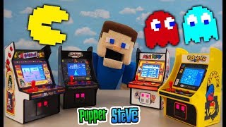 MY ARCADE PAC MAN Retro Video Game Mini Cabinets - Dig Dug, Mappy, Galaga Numskull Unboxing