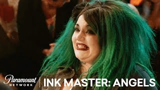 Kelly Doty is Forced to Freehand in Final Face Off | Ink Master: Angels (Season 2)